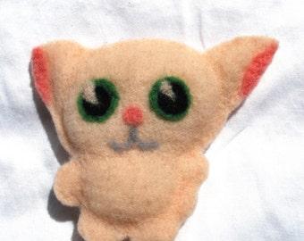 Kitten Felted Doll