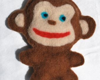 Monkey Felted Doll