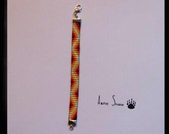 Bracelet Tisse En Perles De Rocailles Realise Sur Un Metier A Etsy