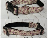 Ivory Purple Floral Collar
