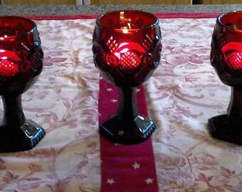 Avon Cape Cod 1876 Cordial Glasses. Set of Five.