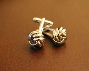 Silver Knot Stylish Cufflinks
