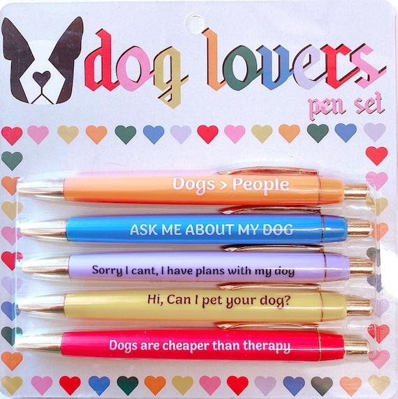 Novelty Puppy Dog Pens Fun Gift Ballpoint Stationery Pen
