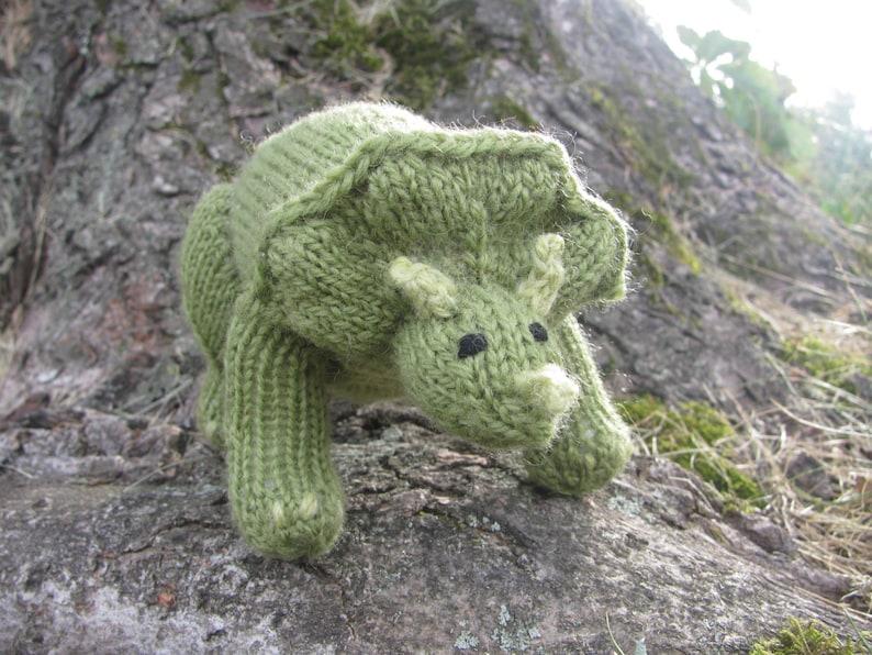 Small Triceratops Knitting Pattern image 0