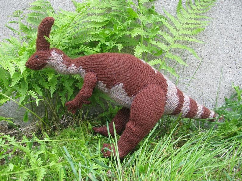Parasaurolophus Knitting Pattern image 0