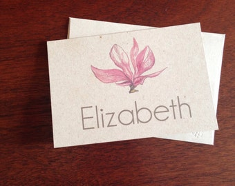 Flower Personalized Notecards (set of 10)