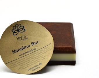 Nanaimo Bar Soap, chocolate Cocoa Butter Soap, vanilla and chocolate soap, vanilla soap