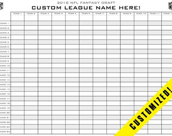 photograph about Fantasy Football Draft Sheets Printable Blank titled Myth soccer draft board Etsy