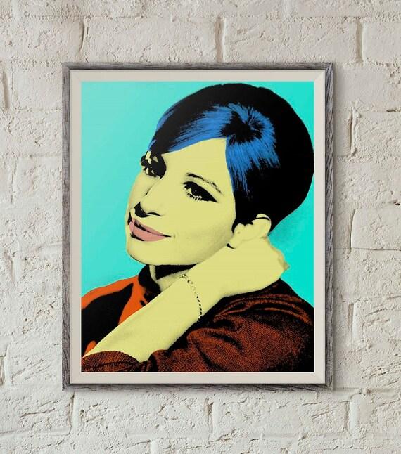 Barbra Streisand Pop Art Portrait Printable Wall Art Andy