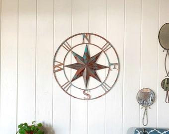 e973039968 Metal Compass, Metal Compass Wall Art, Metal Wall Art, Nautical Decor, Metal  Compass Decor, Metal Wall Decor, Nautical Wall Art Compass