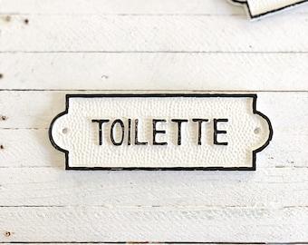 Large Toilette Door Sign, French Bathroom Door Sign, Door Plaque, Vintage Style, Railway Style, Retro Style