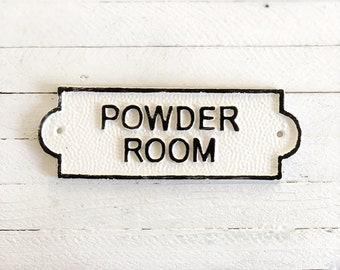 Powder Room Door Sign, French Bathroom Door Sign, Door Plaque, Vintage Style, Railway Style, Retro Style