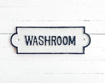 Washroom Sign, French Bathroom Door Sign, Door Plaque, Vintage Style, Railway Style, Retro Style