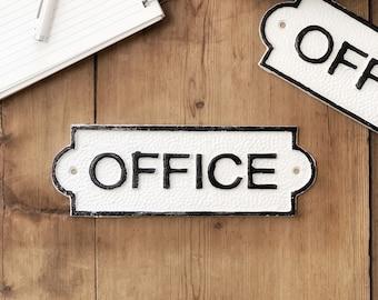 Office Door Sign, Office Wall Decor, Door Plaque, Vintage Style, Railway Style, Retro Style