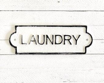 Laundry Door Sign, French Bathroom Door Sign, Door Plaque, Vintage Style, Railway Style, Retro Style
