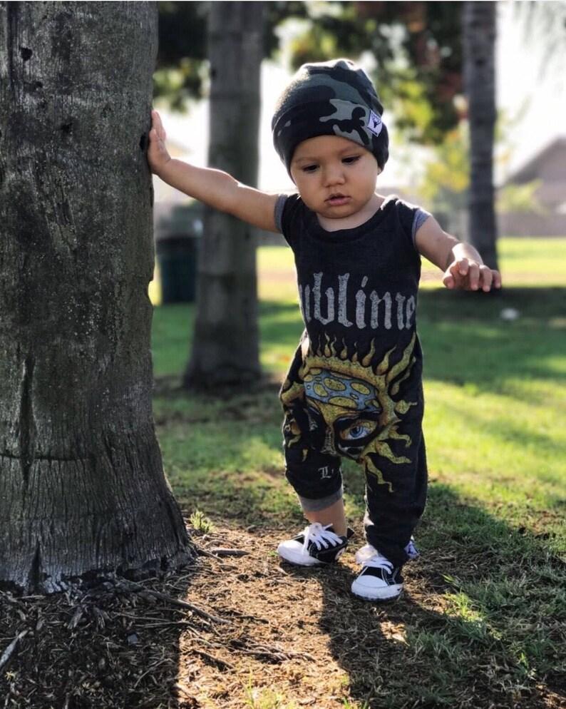 trendy toddler clothes rock music punk handmade baby clothes Baby rompers custom baby clothes baby bodysuit