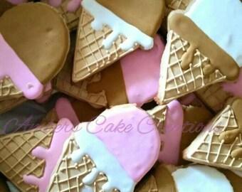 Ice cream cone cookies (12)