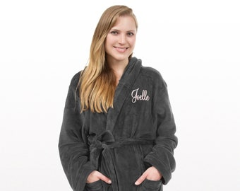 Personalized Hooded Fleece Robe 1df706d61