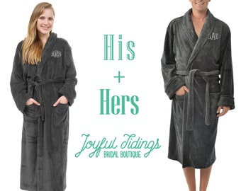 4f63c4c370 His and Hers Personalized Fleece Robe Set
