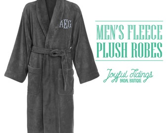 58849ea192 Personalized Men s Fleece Robe