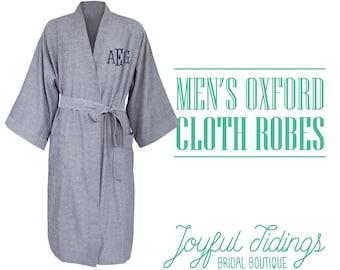 87332e43fd SALE Men s Personalized Oxford Robe