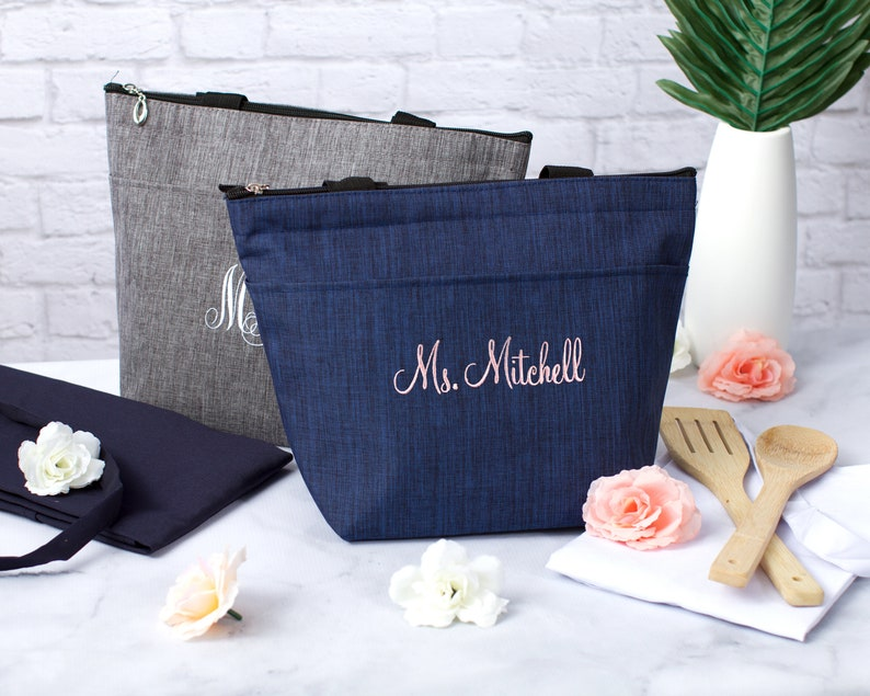 Teacher's Appreciation Gift Personalized Lunch Tote image 0