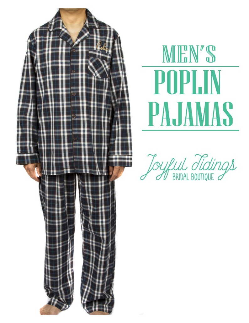 7525fb65e9 SALE Personalized Men's Poplin Pajamas Poplin Pajama Set   Etsy