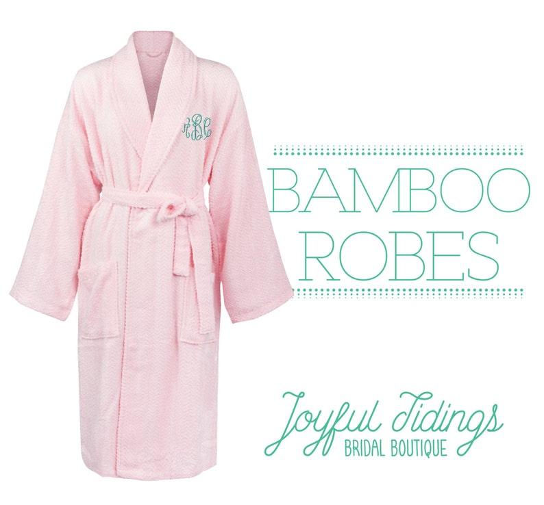 7b57fc5c50b2 Personalized Bridesmaid Robes Luxury Bamboo Robes Bridesmaid