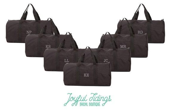 BULK SALE Set of 7 Personalized Black Duffel Bags Men s  9fac947211e53