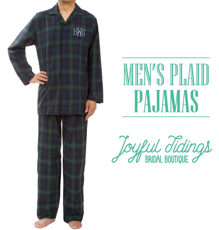 602fefee4b SALE Personalized Men's Plaid Pajamas Plaid Pajama Set   Etsy