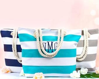 SALE Monogrammed Beach Tote Bag, Bridal Gift Totes, Bridesmaids Gift Bag, Bridal Party Tote, Set of Tote Bag for Bridal Party Photo