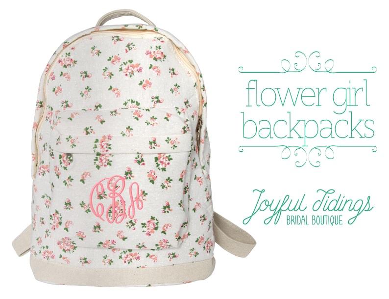 a51feea1f SALE Embroidered Flower Girl Backpack Flower Girl Gift   Etsy