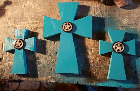 Croix, Croix de bois, décoration d\'intérieur, décoration Turquoise ...