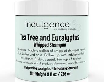 8 fl oz Tea Tree and Eucalyptus Whipped Shampoo