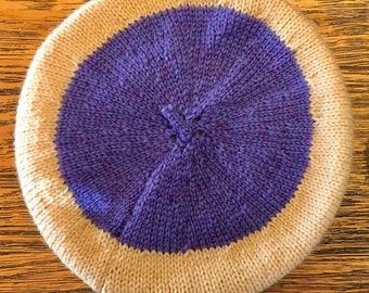Handmade, baby beret, 3-6 months,soft, wool