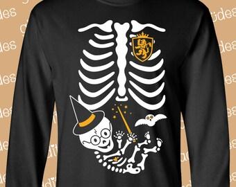 Baby Wizard Costume Maternity Skeleton - on *mens/unisex* Long Sleeve T-shirt