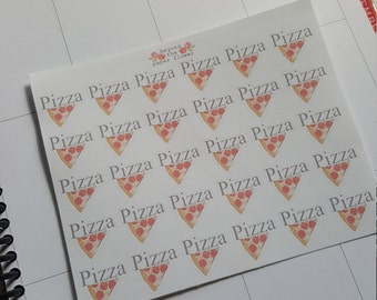 30 Pizza Stickers for all planners.