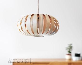 Moderne Lampen 57 : Deckenleuchte moderne natürliche holzfurnier exklusive lampe etsy