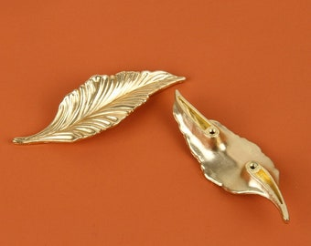 Silver Leaf drawer knobs  Leaf Cabinet  Gothic Home Decor  Animal Shaped drawer knobs  Furniture Hardware,Z-186
