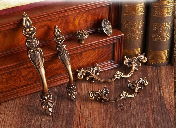 2.5 3.75 Carving Door Handle Pull Drawer Handles pulls knob Dresser pull handle Cabinet handle knob Wardrobe Handle Knobs Hardware 64 96mm