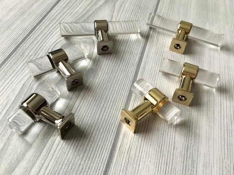 Clear Acrylic Crystal Door Handles Knobs Pulls Drawer Handles pulls Dresser handle Cabinet Handle Pulls Wardrobe pulls knob Hardware