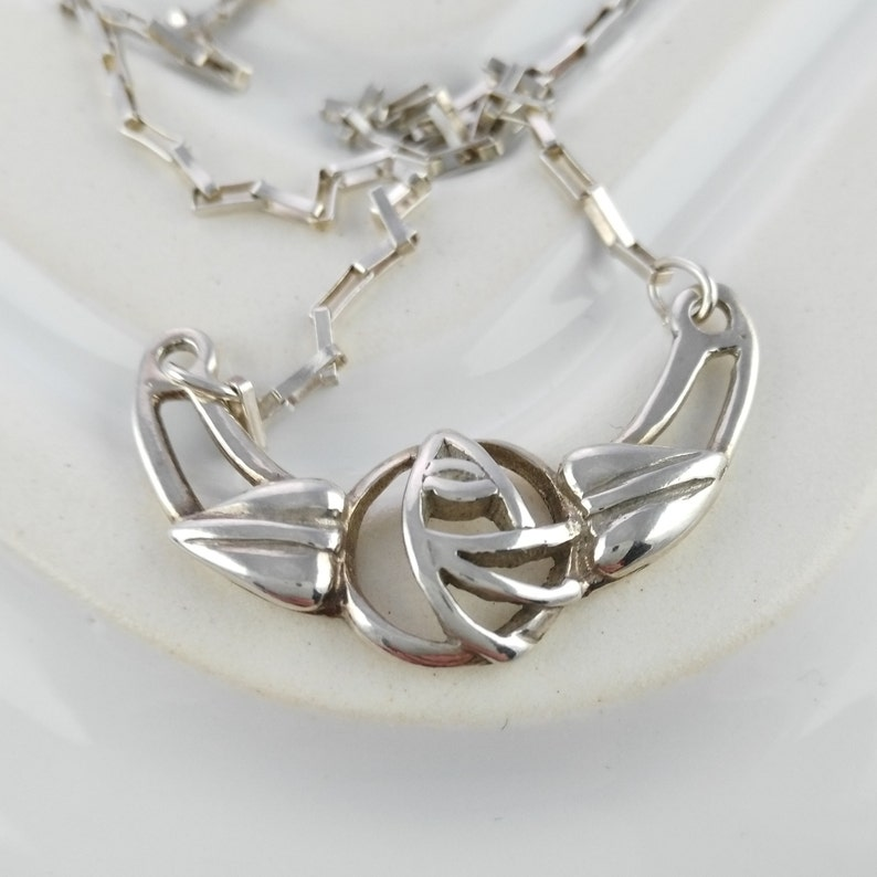Glasgow Rose Sterling Silver Pendant and Chain