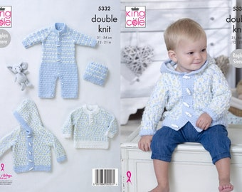King Cole knitting pattern DK hats 6 designs  3 months to 7 years  5105