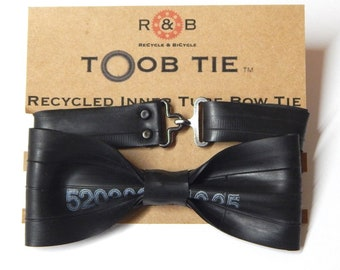 266a819e5e19 Bicycle Bike Recycled Inner Tube Bow Tie #1 By ReCycle & BiCycle