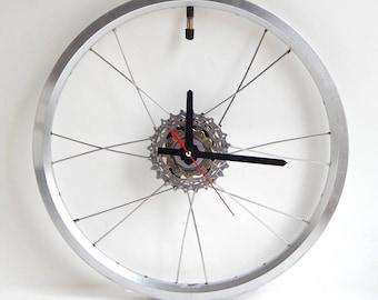 Recycled Brompton Bicycle Wheel Clock