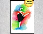 Ballerina, Ballerina Art, Ballet, Ballerina Wall Art, Printable Wall Art