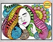 Girl Boss, Feminist Art, Feminist Print, Women Empowerment Printable