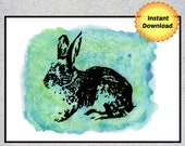 Rabbit Lover Gift, Bunny Print, Easter Bunny, Rabbit Wall Print
