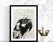 Parrot, Bird Lover Gift, Bird Artwork, Original Watercolor and Marker Painting