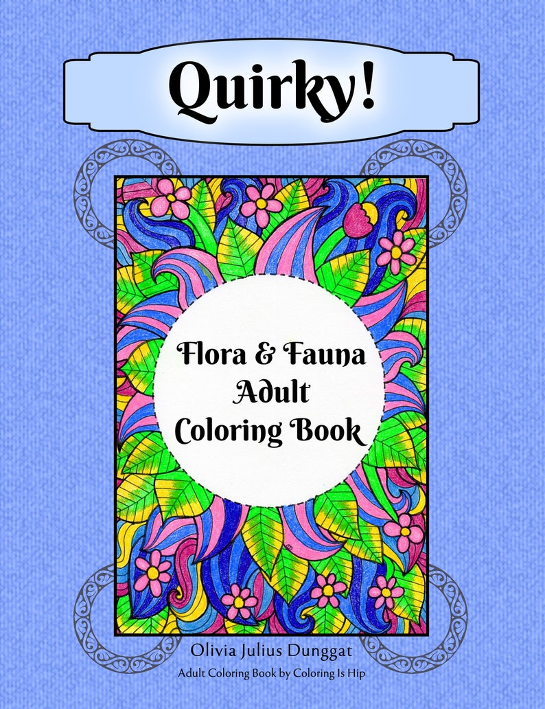 Quirky Flora and Fauna Adult Coloring Book image 0
